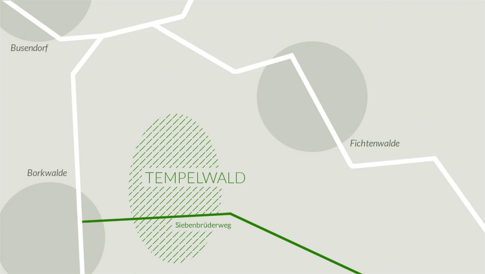 Lageplan des Tempelwalds